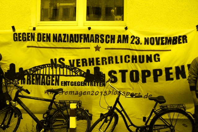 """NS Verherrlichung stoppen! Nazis in Remagen entgegentreten"" - Gegen den Naziaufmarsch am 23. November"